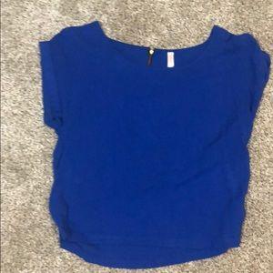 Xhilaration cobalt blue dressy cropped top